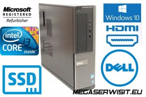 DELL OPTIPLEX 3010 I3 8GB SSD 240GB DESKTOP COA WINDOWS 10 PROF